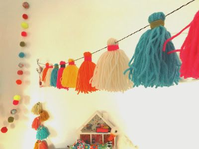 christmas how to #1 neon tassels - TEAWAGON TALES