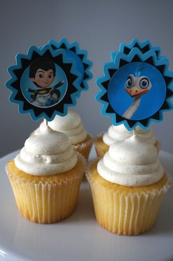 Miles from Tomorrowland Cupcake Toppers set of 12 by ReallyRenata