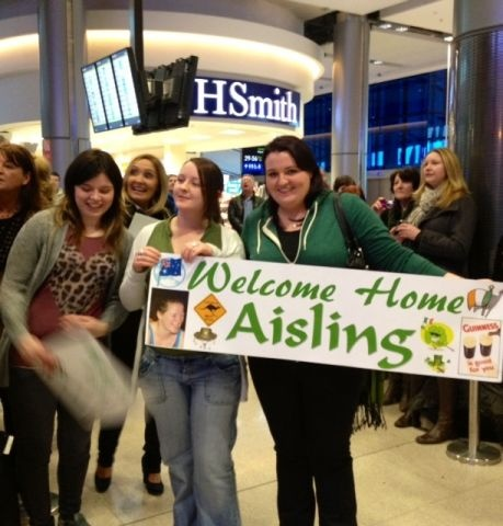 Is she here yet? Eagerly awaiting Aisling from Mayo, home from Australia for Christmas. T2, Dec 14.