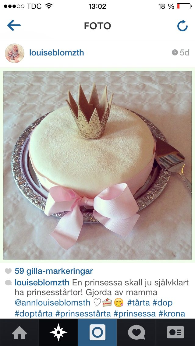 Doptårta baptismcake princess