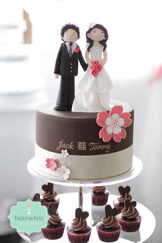 Sakura/Blossoms Wedding Cupcake tower | von Bake-a-boo Cakes NZ