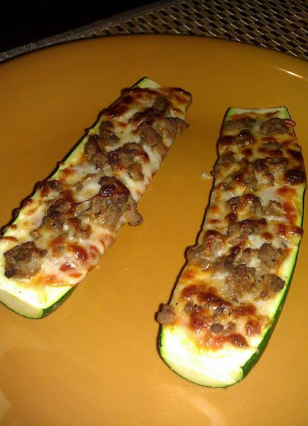 Zucchini Pizzas! 4.91 stars, 35 reviews. Delish! Used a melon baller to dig a little ditch so the sauce wont run out and can put more toppings. Used turkey sausage and mozzarella cheese. =^.^= @allthecooks #recipe
