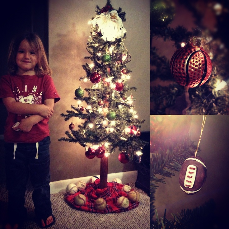 Images about sports theme christmas tree on