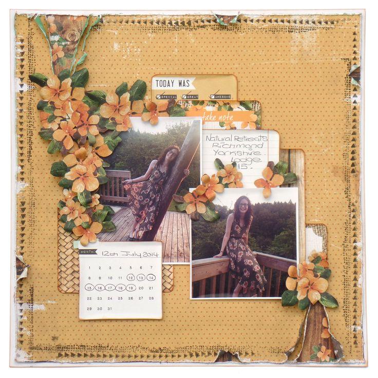 September Merly Crop kit layout using Kaisercraft Paradiso Collection. xXx