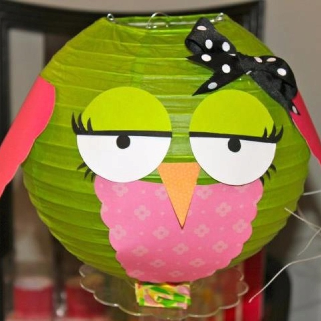 Ok maybe a few girlie looking owls Owl Party decoration
