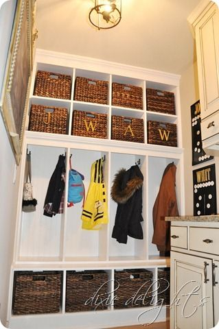 lockers and cubbies in the mudroom, Dixie Delights