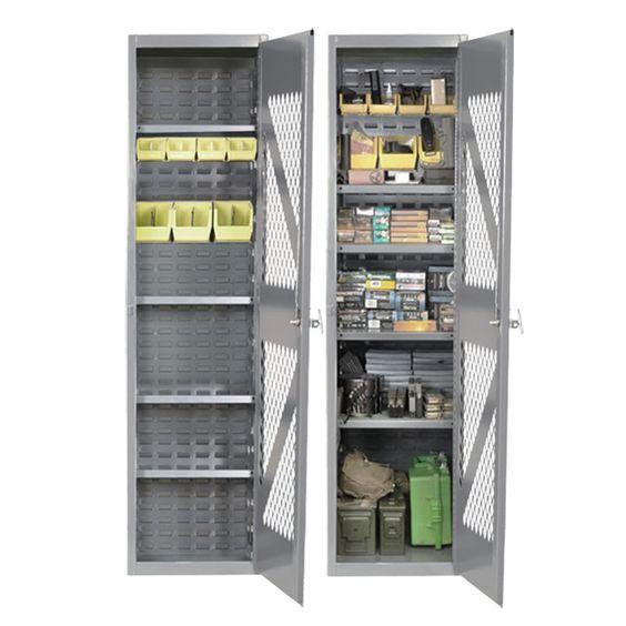 SecureIt Tactical Steel Gun Cabinet/1824AM Ammo Storage Cabinet TGS1824AM