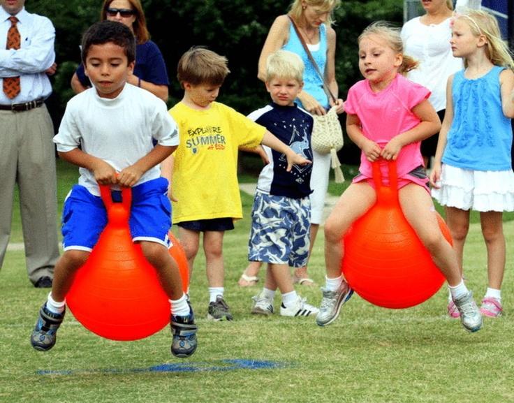 Ball Jump Relay Race - Field Day | School/Field Day Ideas ...