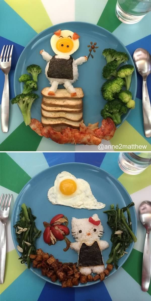 Astonishing Lunch Ideas For Kids At Home. 10 Most Amazing Pieces of Lunch Art By Parents  food art lunch box bento awesome parents 195 best images on Pinterest Food Cooking and