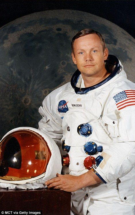 Astronaut Neil Armstrong, commander of Apollo 11 and the first person to walk on the moon