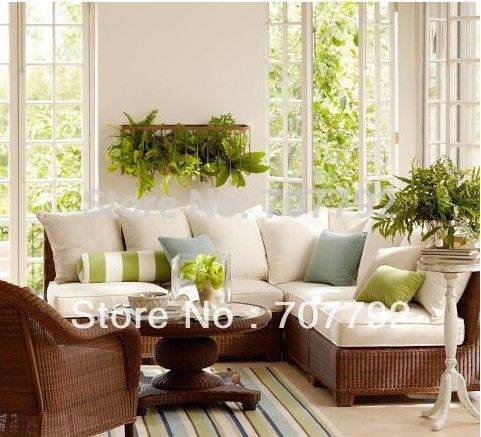 2017 All-Weather outdoor furniture rattan victorian sectional sofa