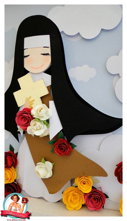 free silhouette studio cut file St Theresa Nun
