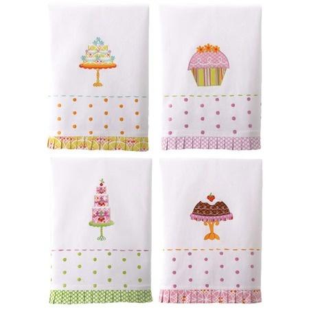 Happy Pedestals Cakes & Cupcakes Kitchen Towels.