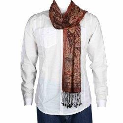 Floral Jacquard Silk Scarf Men Fashion Indian Dresses