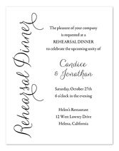 Invitation Wording Samples by InvitationConsultants.com - Rehearsal Dinner