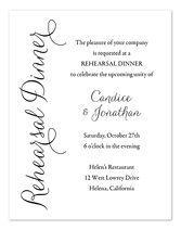 Invitation Wording Samples by InvitationConsultants.com - Rehearsal Dinner