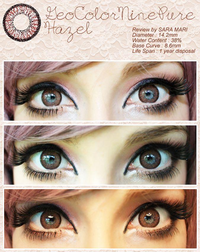 geo color 9 hazel circle lens contacts colored contacts korean contact lens - Colored Contacts Hazel