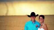 Brit--maybe a good back drop for your senior photo shoot :) lol Tornado backdrop in Kansas wedding photos
