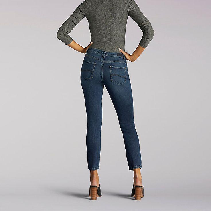 Lee Women's Modern Series Anna Skinny Ankle Jeans (Size 14 Slim)