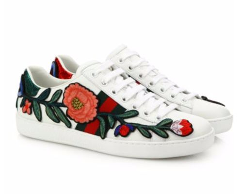 Buy it now: Gucci Ace Floral Embroidered White Low-Top Sneaker