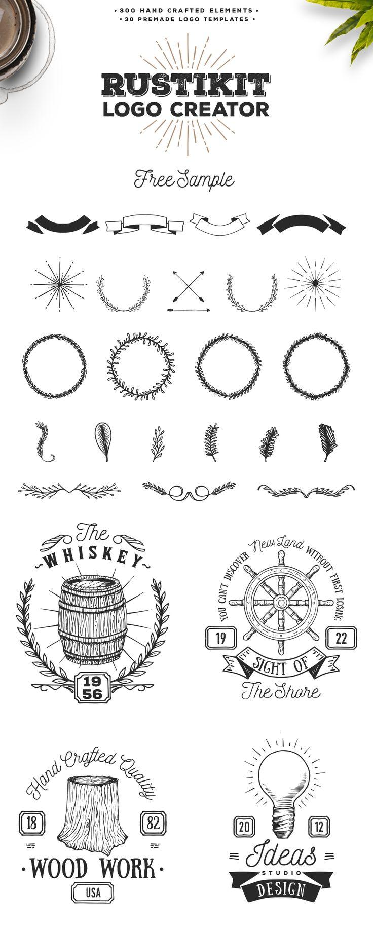 Rustikit Logo Creator – Free Sample (Ai & Psd) (4.2 MB) | freedesignresources.net | #free #illustrator #vector #logo #creator
