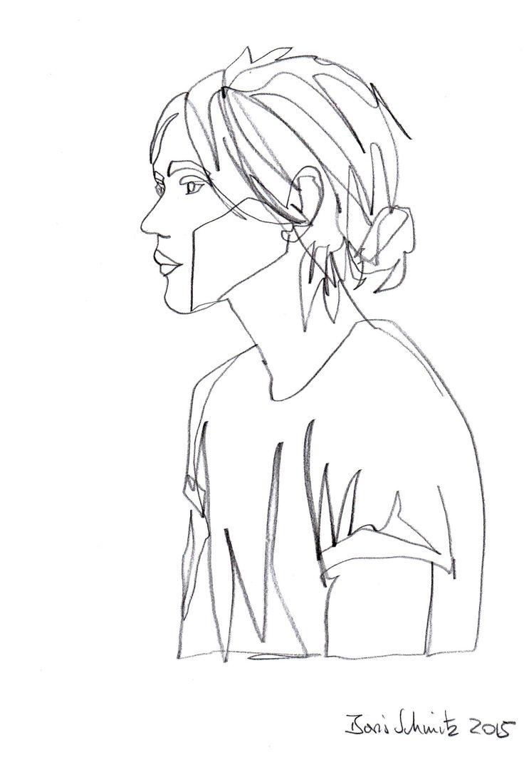 "borisschmitz: "" ""Gaze 194"", one-continuous-line-drawing by Boris Schmitz, 2015 » click here for my portfolio « """