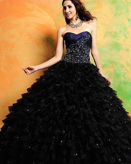 resultado de imagen para imagenes de vestidos de 15 color negro y