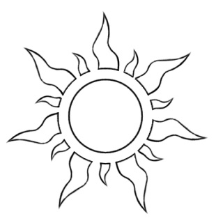 Tangled sun... Maybe a cool tattoo. I really want a sun one on my ankle to match my parents