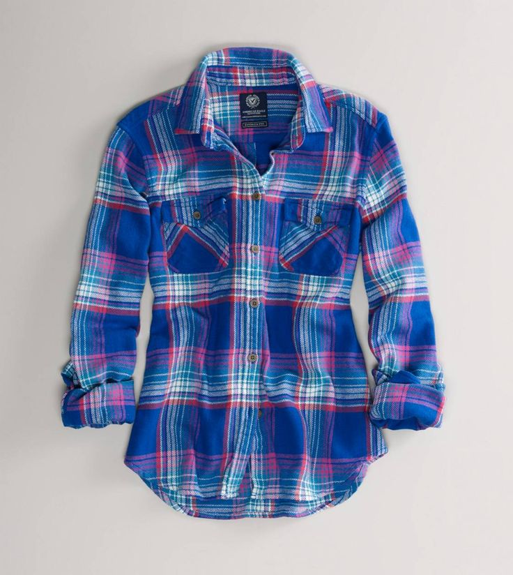 American Eagle Women's Flannel Shirt. Just picked this up for 17 bucks at the super clearance sale. It's a thick flannel with lots of give. It's my new favorite.