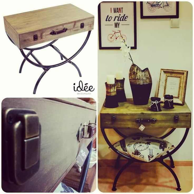 Suitcase table industrial