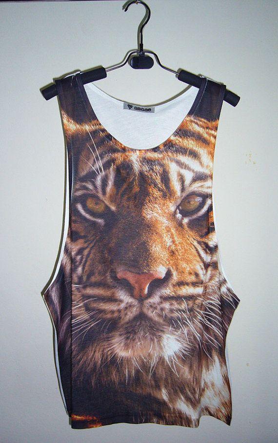 Bengal Tiger Shirt Animal Tank Top Tiger Tank Tiger by PStopshop, $18.99