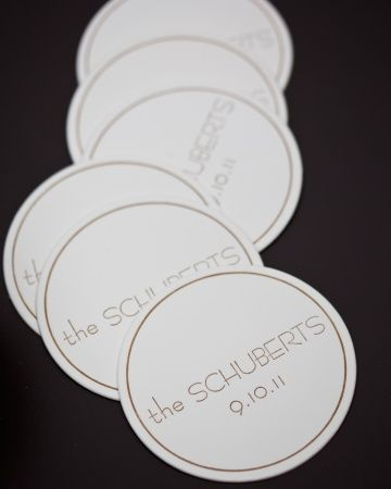These drink coasters are simple and classic