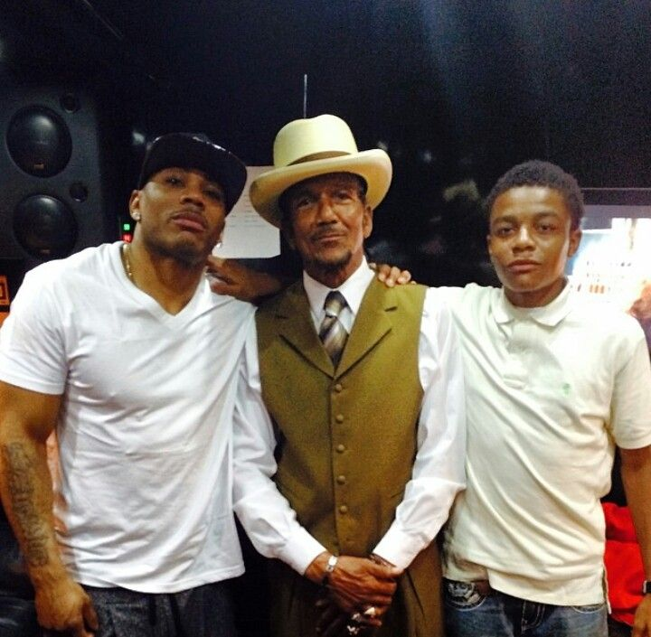 Photo of Nelly & his  Father  Cornell Iral Haynes Sr