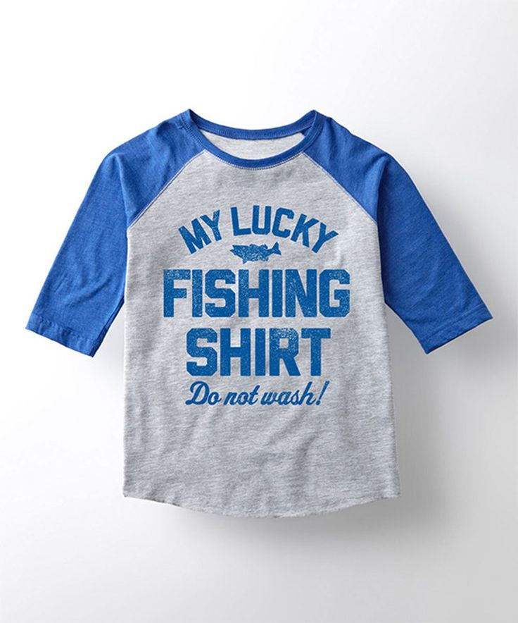 This Athletic Heather & Royal 'Lucky Fishing Shirt' Raglan Tee - Kids & Tween by Country Casuals is perfect! #zulilyfinds