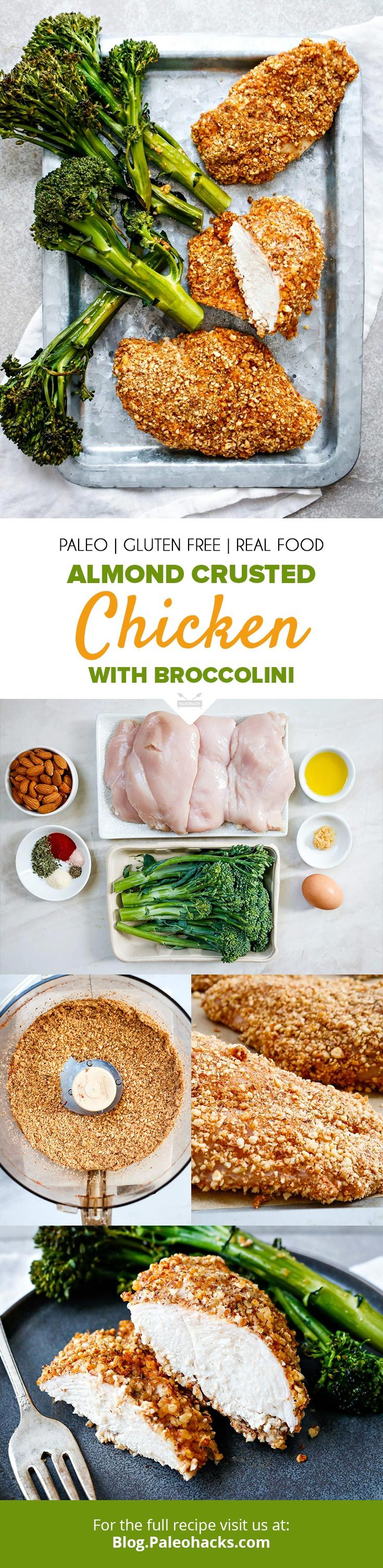Almond Crusted Chicken with Broccolini