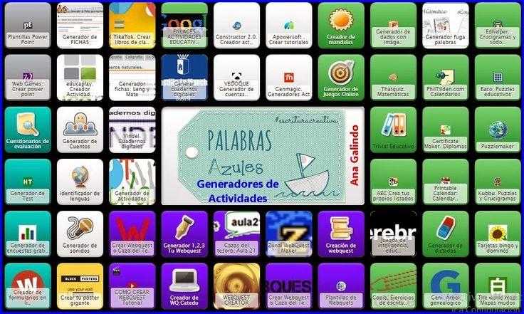 Symbaloo: Generadores de Actividades Escolares | PaLaBraS AzuLeS