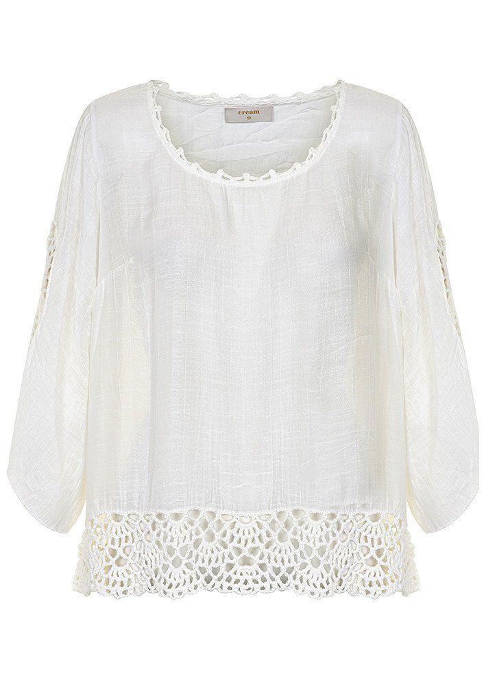 Bluse creme 10601692 Cream Bonfilia Blouse - chalk