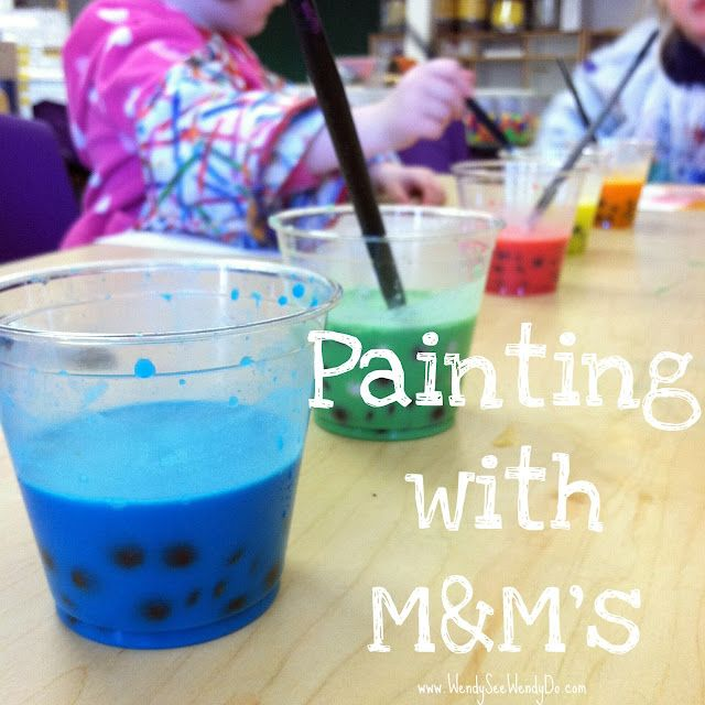 This craft covers all of the senses! SIGHT – Sorting the MM's