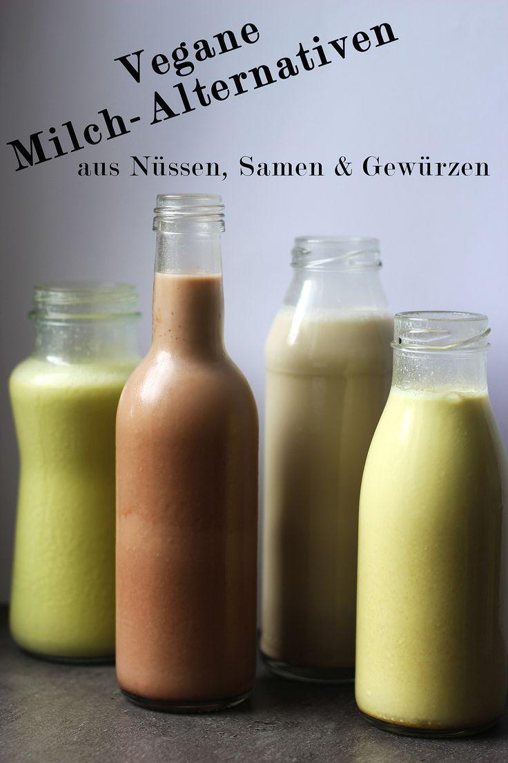 Heute zeige ich euch 4 verschiedene pflanzliche Alternativen zu Milch - perfekt für`s Müsli, Porridge oder als Erfrischung zwischendurch geeignet.