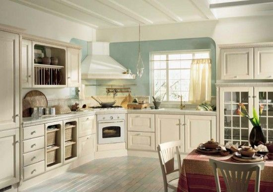 Country kitchen color schemes photos country kitchen for Country kitchen designs