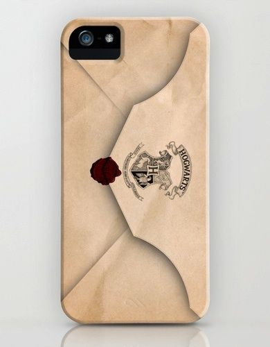 Hogwarts Letter iPhone case... I need to find out if a couple people have Iphones.. great gift idea!