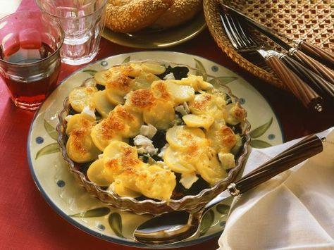 Kartoffel-Spinatgratin ist ein Rezept mit frischen Zutaten aus der Kategorie Blattgemüse. Probieren Sie dieses und weitere Rezepte von EAT SMARTER!