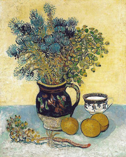 alongtimealone:    Vincent van Gogh - Still Life, 1888 at the Barnes Foundation Philadelphia PA (mbell1975)
