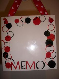 Dry Erase Board From Tile With Ribbon