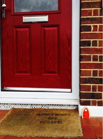 The irish fairy door company beautiful red fairy door for Red elf door