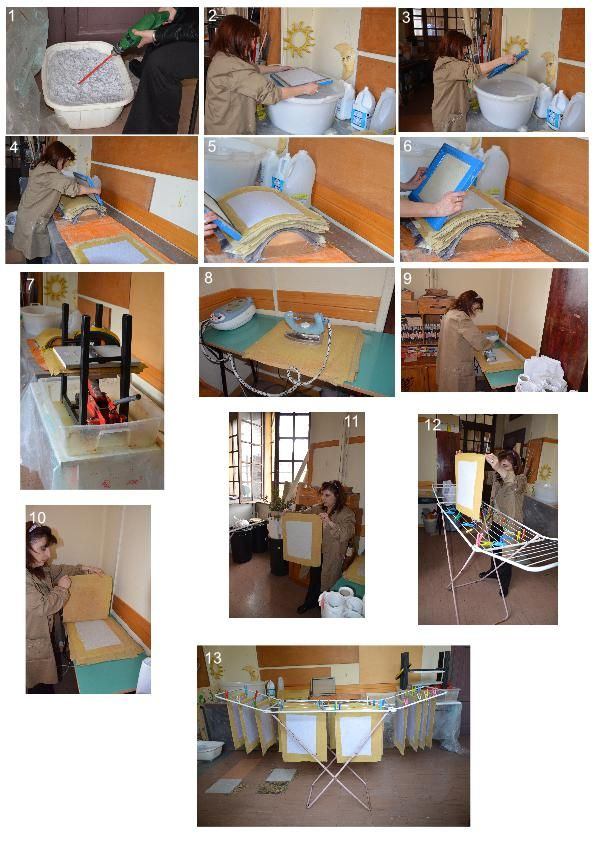 Laboratorio di riciclaggio del CFP Simonetta Tosi di Roma