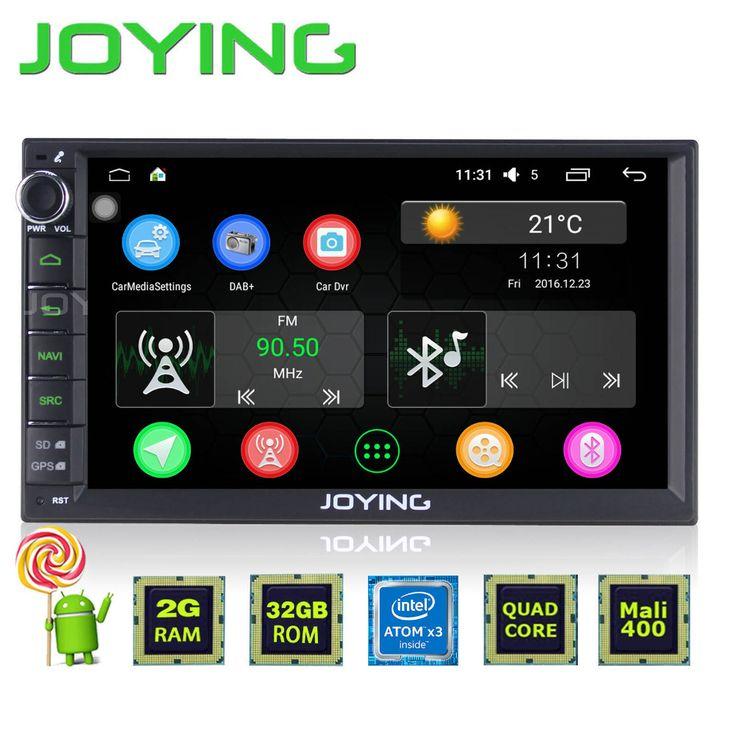 "JOYING 2GB+32GB 7"" Double 2 Din Android 5.1 Universal Car Auto Radio Steering wheel control Quad Core 1024*600 HD media player"