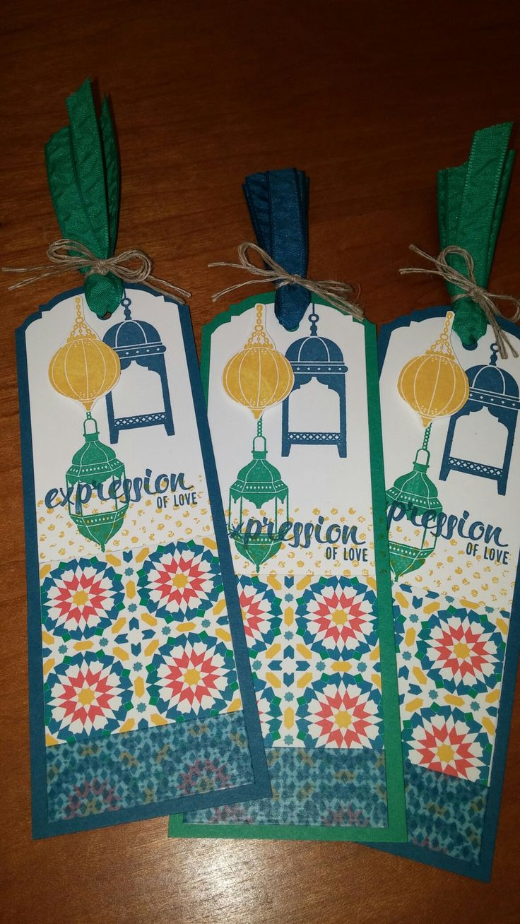 Moroccan Nights bookmarks by N Rankin, Stampin' Up!