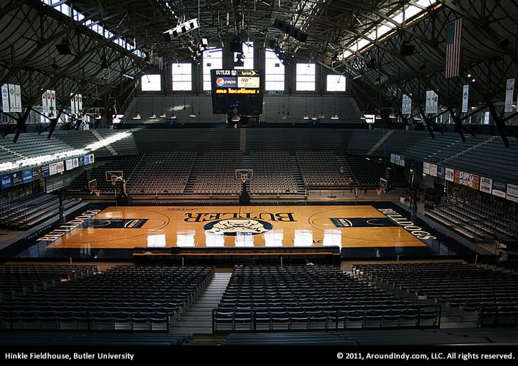 Historic Hinkle Fieldhouse on the campus of Butler University, Indianapolis, Indiana.