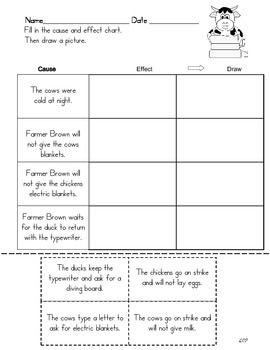 CLICK CLACK MOO CAUSE AND EFFECT - TeachersPayTeachers.com